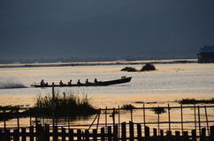 Boat on Lake Inle Royalty Free Stock Photo