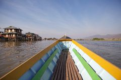 Boat on the Lake Inle Myanmar Stock Photography