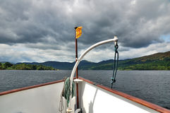 A boat on Lake Katrine, Scotland Stock Images