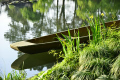 Boat by lake Stock Images