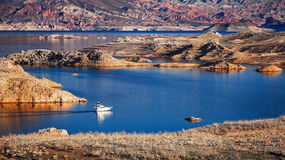 Boat on Lake Mead Royalty Free Stock Image