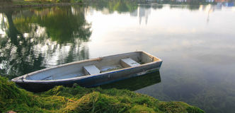 A boat in lake Royalty Free Stock Images