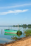 Boat on the lake Nero, Russia Royalty Free Stock Images