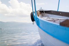 Boat in Lake Ohrid Royalty Free Stock Photography