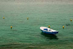 Boat on lake. One boat on the lake Royalty Free Stock Photos