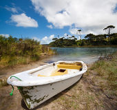Boat on Lake Ototoa Royalty Free Stock Image