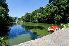 Boat in the lake, the park Uman Royalty Free Stock Photos
