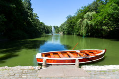 Boat in the lake, the park Uman Stock Images