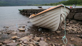 Boat on the lake. Scotland stock video footage