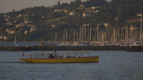 Boat in the lake stock video
