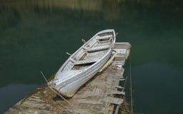 Boat on a lake shore Stock Image