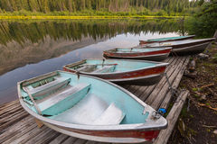 Boat on the lake. Boat on lake in Siera Nevada, California Royalty Free Stock Photo
