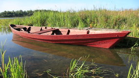 Boat on the lake stock video footage