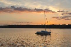 Boat in lake. Stock Image