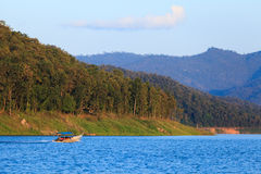 A boat in a lake in Thailand. A boat in a lagoon in Thailand Stock Image