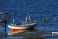 Boat on lake Titicaca, Island of the sun Stock Photos