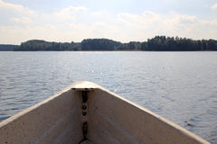 In the boat on the lake Stock Images