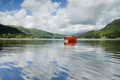 Boat on Lake Windermere Royalty Free Stock Images