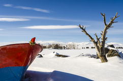 Boat Lake  Winter (4 Season Kars) Stock Photo