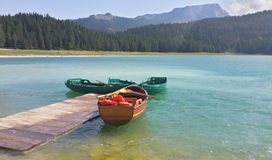 Boat and lake Stock Photo