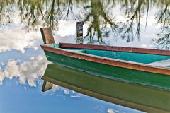 Boat on a lake Stock Image