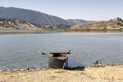 Boat on the lake Zazari Stock Photo