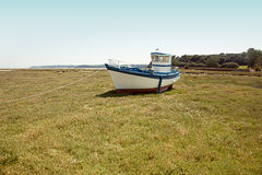 Boat on Land Royalty Free Stock Image