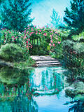 Boat Landing at Giverny Water Lily Pond Stock Image