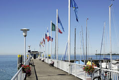 Boat landing on Lake Constance Stock Images