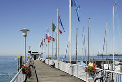 Boat landing on Lake Constance Stock Photo
