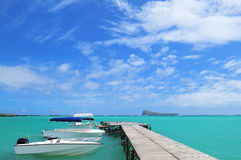 Boat Landing Station. A boat landing station in Mauritius Royalty Free Stock Photography