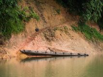 Boat landing at the Tanintharyi River Stock Image