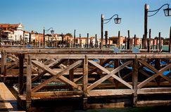 Boat landing in Venice Stock Photo