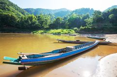 Boat in Laos Stock Photography