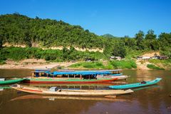 Boat in Laos Royalty Free Stock Photography