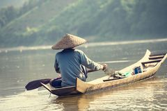 Boat in Laos Stock Photos