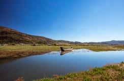 Boat. Lashihai lake, Yunnan Province, China Royalty Free Stock Photo