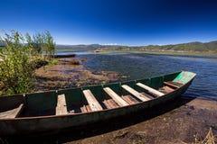Boat. Lashihai lake, Yunnan Province, China Royalty Free Stock Photos