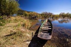 Boat. Lashihai lake, Yunnan Province, China Stock Image