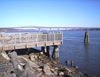Boat Launch. On the Hudson River royalty free stock photos