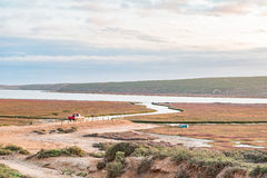 Boat launch site in the Olifants River estuary Royalty Free Stock Photo