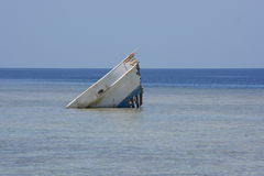 Boat. Leavings boat on the beach in Marsa Alam, Egypt Royalty Free Stock Image