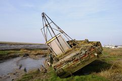Abandoned boat Royalty Free Stock Images