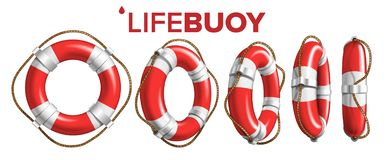 Free Boat Lifebuoy Ring In Different View Set Vector Royalty Free Stock Image - 152106086