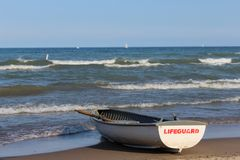 The boat of lifeguard Royalty Free Stock Photography