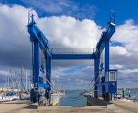 Boat lift Corralejo Stock Photos