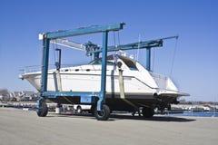 Boat lifter Royalty Free Stock Photos