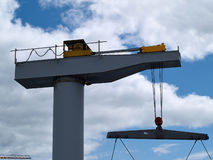 Boat lifter crane Stock Photos