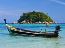 Boat in Lipe Royalty Free Stock Images