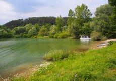 Boat at Liptovska Mara lake, Liptov, Slovakia Stock Image